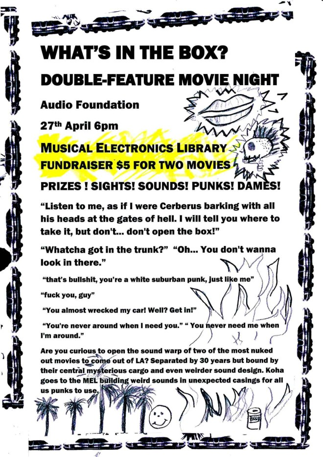 MEL Movie Night 27 April 2014