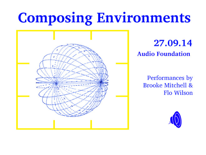Composing Environments NEW Gig Poster