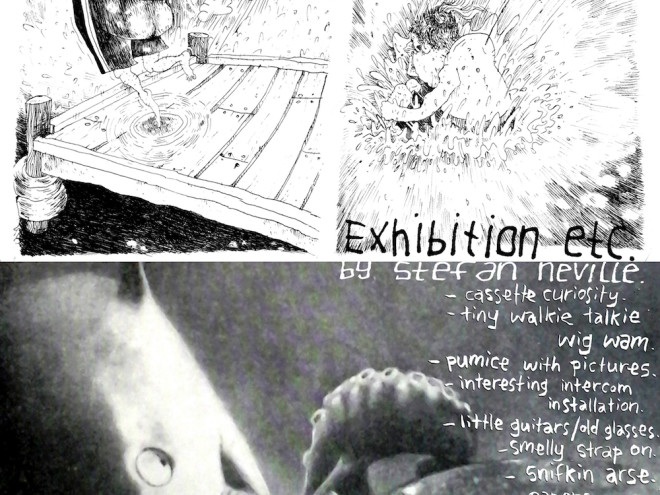 SN exhibit poster black