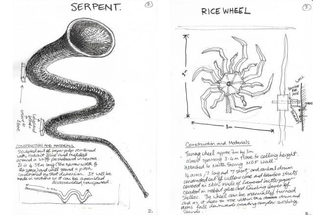 GerardCrewdson_conceptualsketchesforexhibtion_+(serpent+ricewheel)_1500px