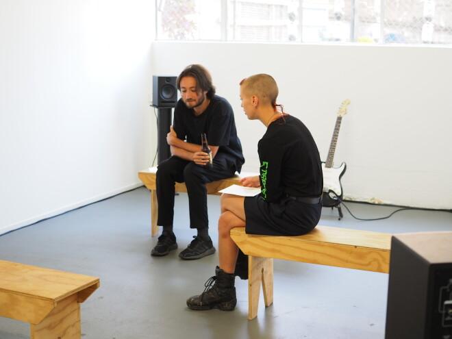 Jimmy Solórzano exhibition opening 10
